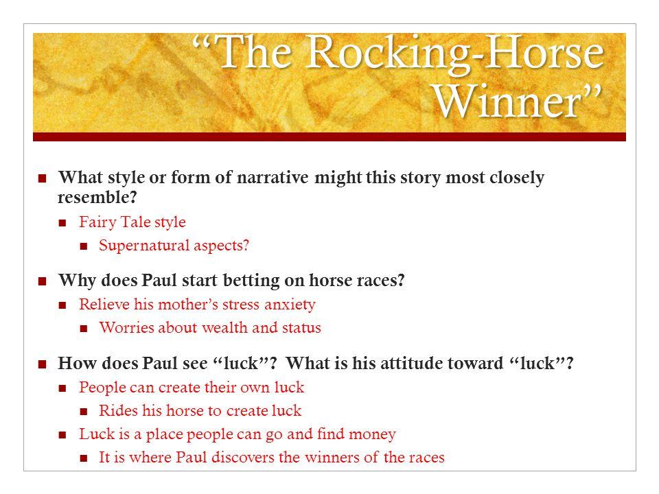 rocking horse winner analysis essay