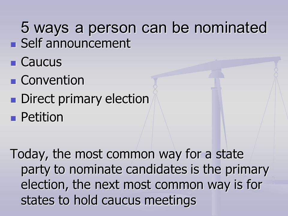 5 ways a person can be nominated