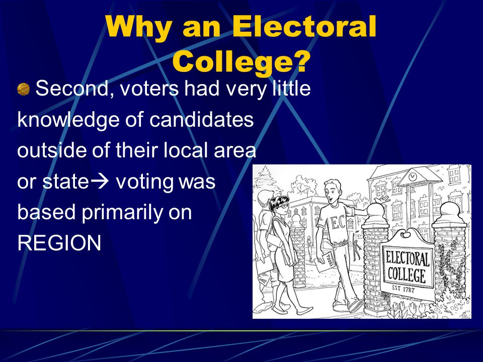 Why an Electoral College