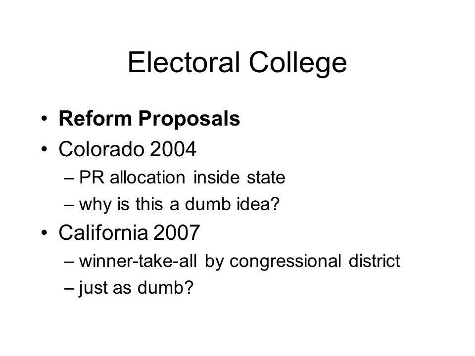 Electoral College Why Did We Do This Why Do We Still Have It Ppt