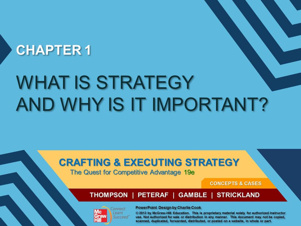 WHAT IS STRATEGY AND WHY IS IT IMPORTANT