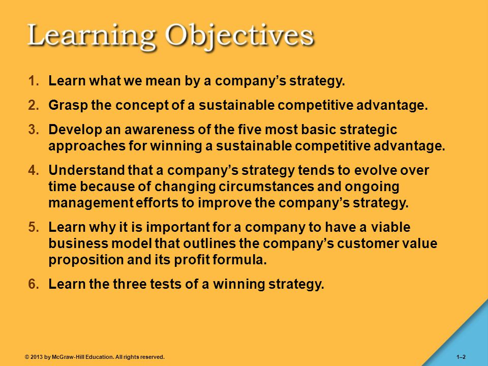Learn what we mean by a company's strategy.