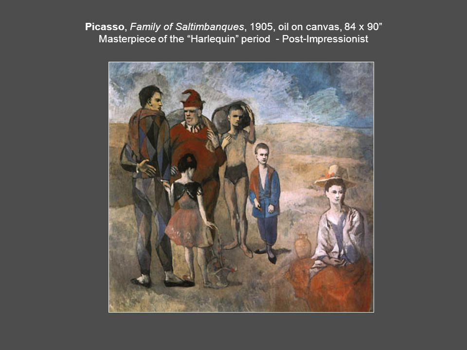 family of saltimbanques essay Picasso: the saltimbanques e a carmean jr published 1980 98 pages published to accompany an exhibition marking the 100th anniversary of pablo picasso's birth, this catalog focuses on picasso's painting family of saltimbanques in the collection of the national gallery of artpicasso: the saltimbanques brings together a selection of the.