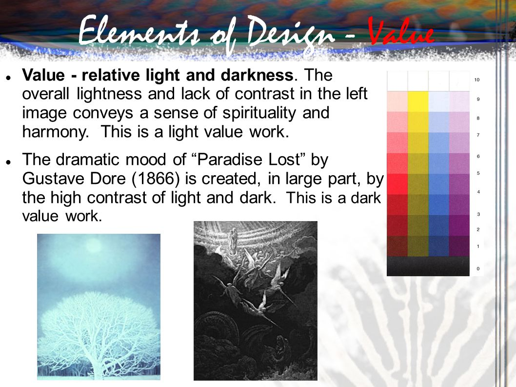 Elements Of Design Value : Ppt download