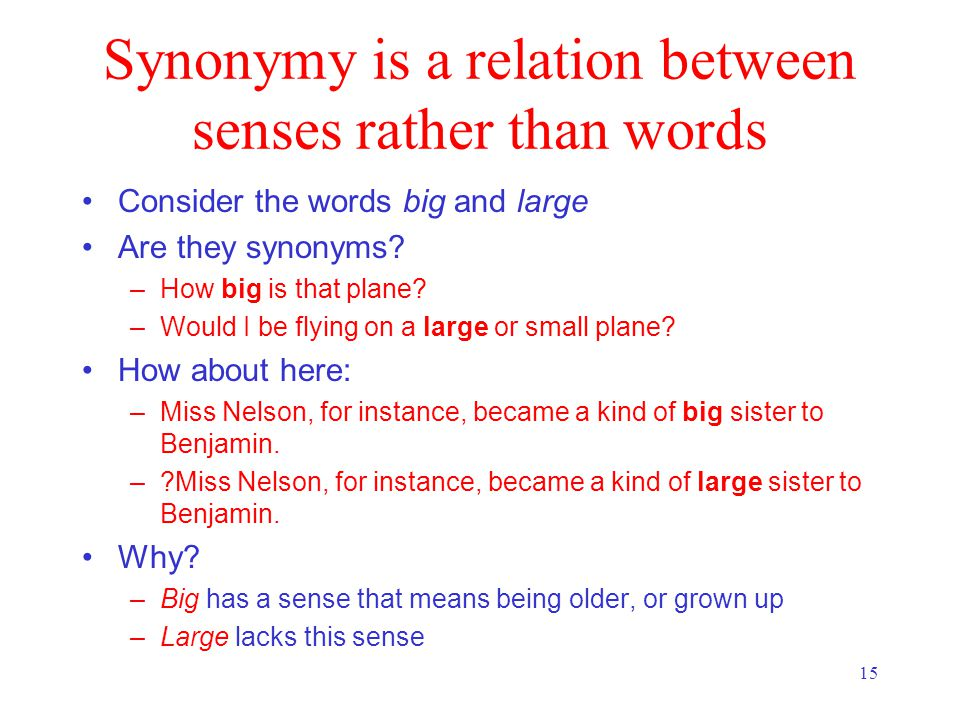 sense relations between words What is semantics, what is meaning lecture 1  – characterizes the systematic meaning relations between words and sentences of a  sense possibly image is the .