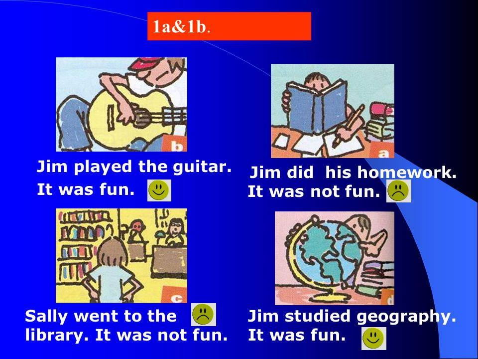 1a&1b. Jim played the guitar. It was fun.