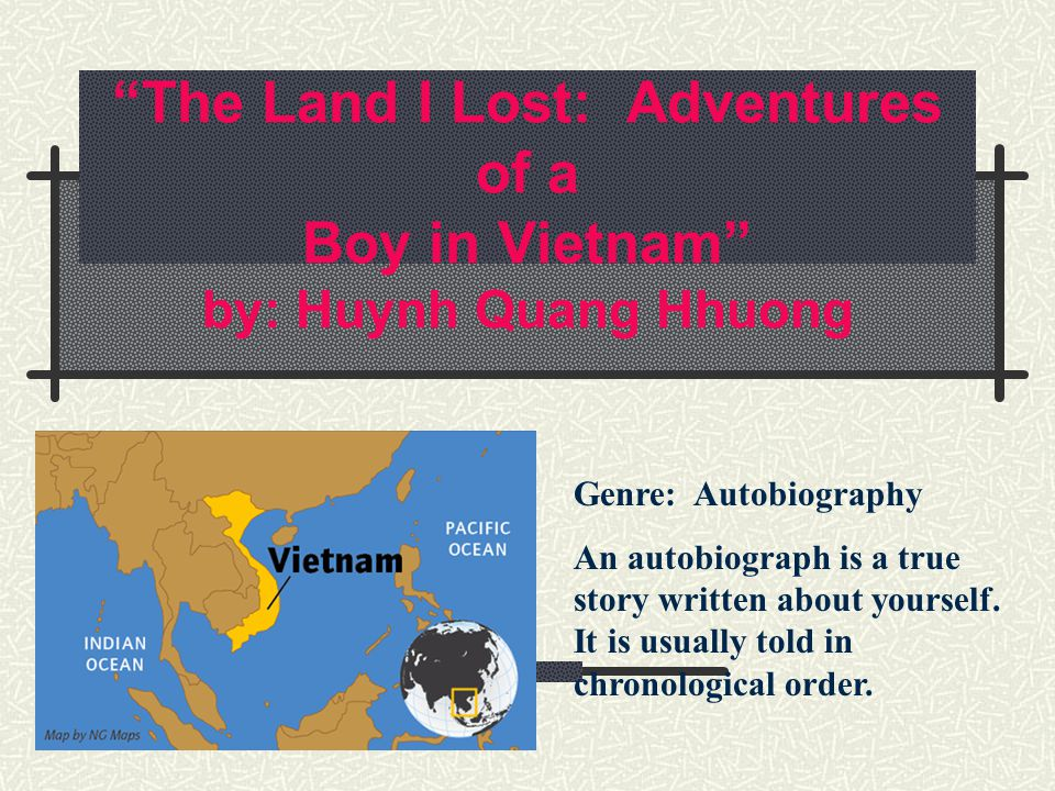 an analysis of animal conflict in the land i lost by huynh qang nhoung