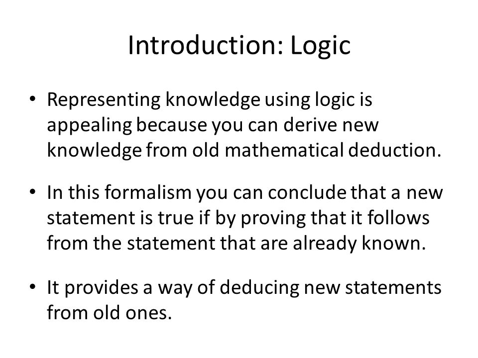 an introduction to legal logic From his introduction to logic and to the methodology of deductive sciences, dover, page xi to discover truths is the task of all sciences.