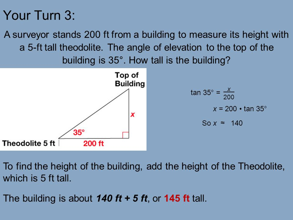 Problem Solving With Right Triangles Ppt Video Online Download - Find your elevation