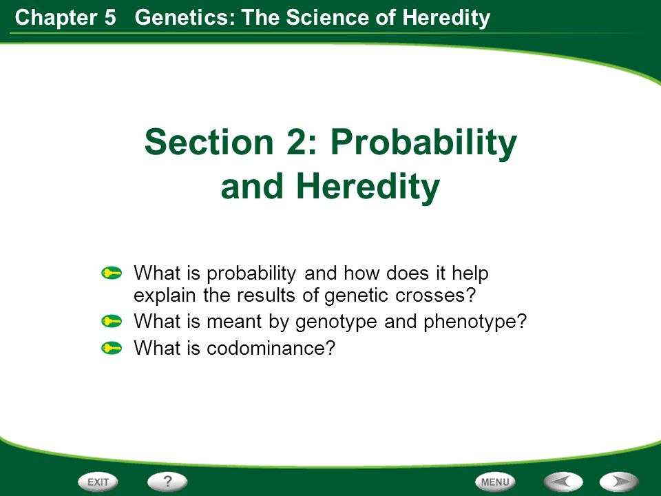 Section 2: Probability and Heredity