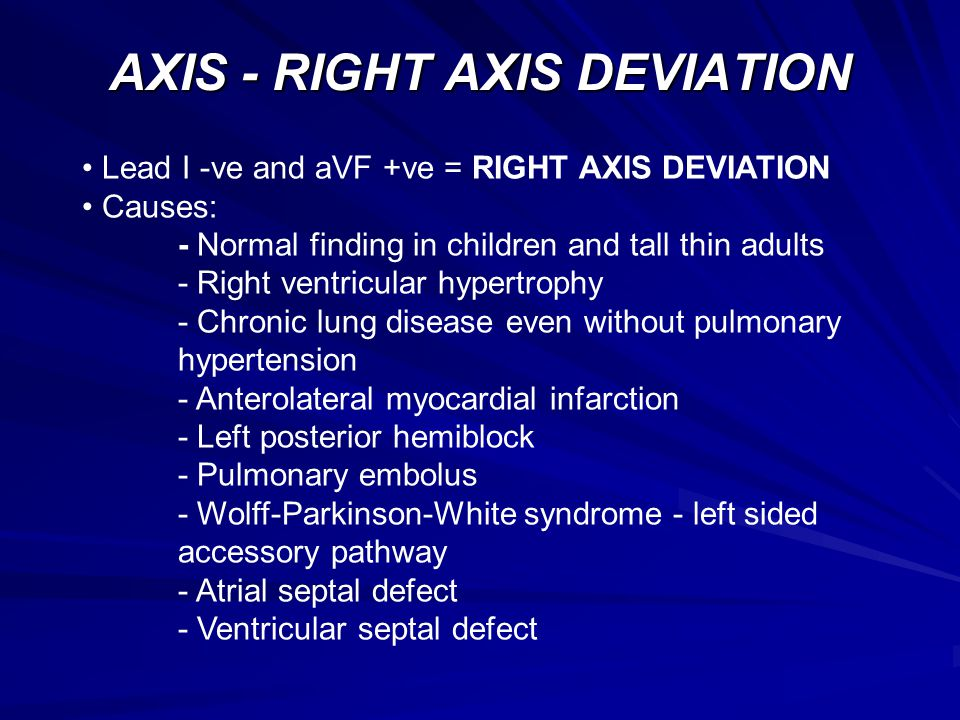 AXIS - RIGHT AXIS DEVIATION