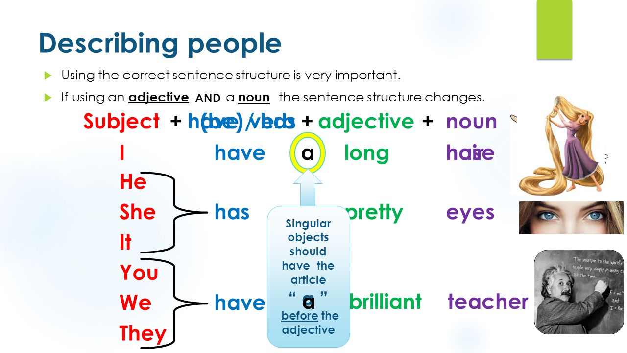 "Using ""(be)"" and ""have"" to describe people - ppt download"