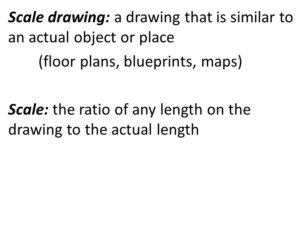 how to find the actual length of a scale drawing