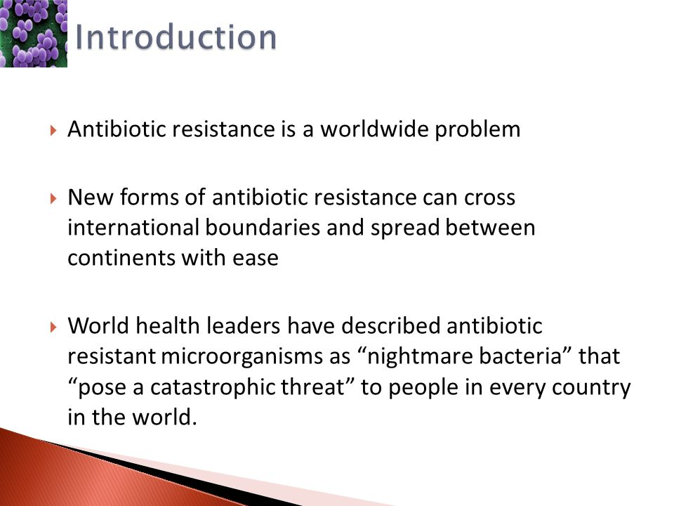 The rising problem of antibiotic resistance in the medical world