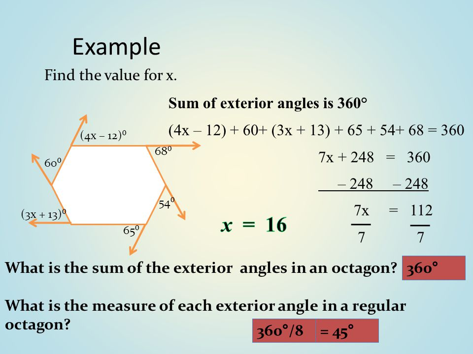 Sum Of Interior And Exterior Angles In Polygons Ppt Video Online Download