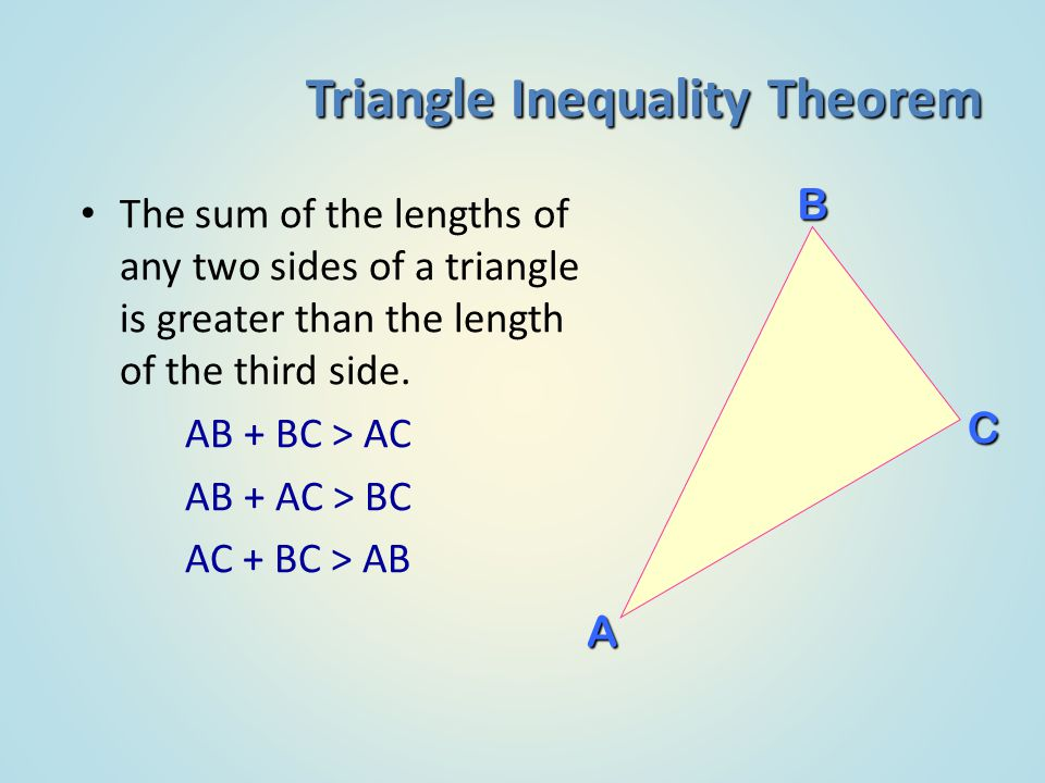 Sum of interior and exterior angles in polygons ppt - Exterior angle inequality theorem ...