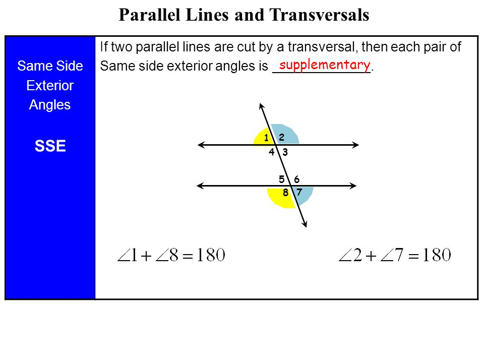 Lesson 2 6 Parallel Lines Cut By A Transversal Ppt Video Online Download