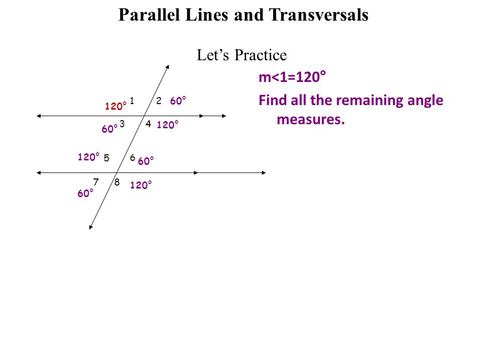lesson 2 6 parallel lines cut by a transversal ppt video online download. Black Bedroom Furniture Sets. Home Design Ideas