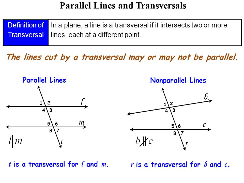 Perfect Parallel Lines And Transversals