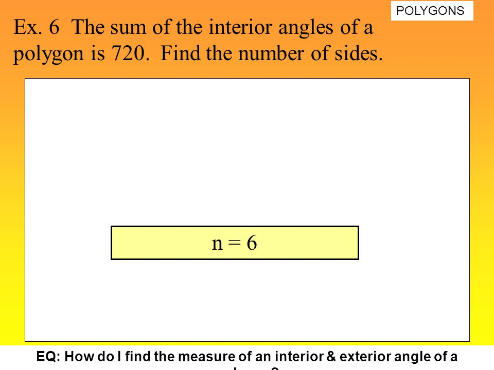 Polygons 10 17 2007 naming polygons ppt video online - Sum of the exterior angles of a polygon ...