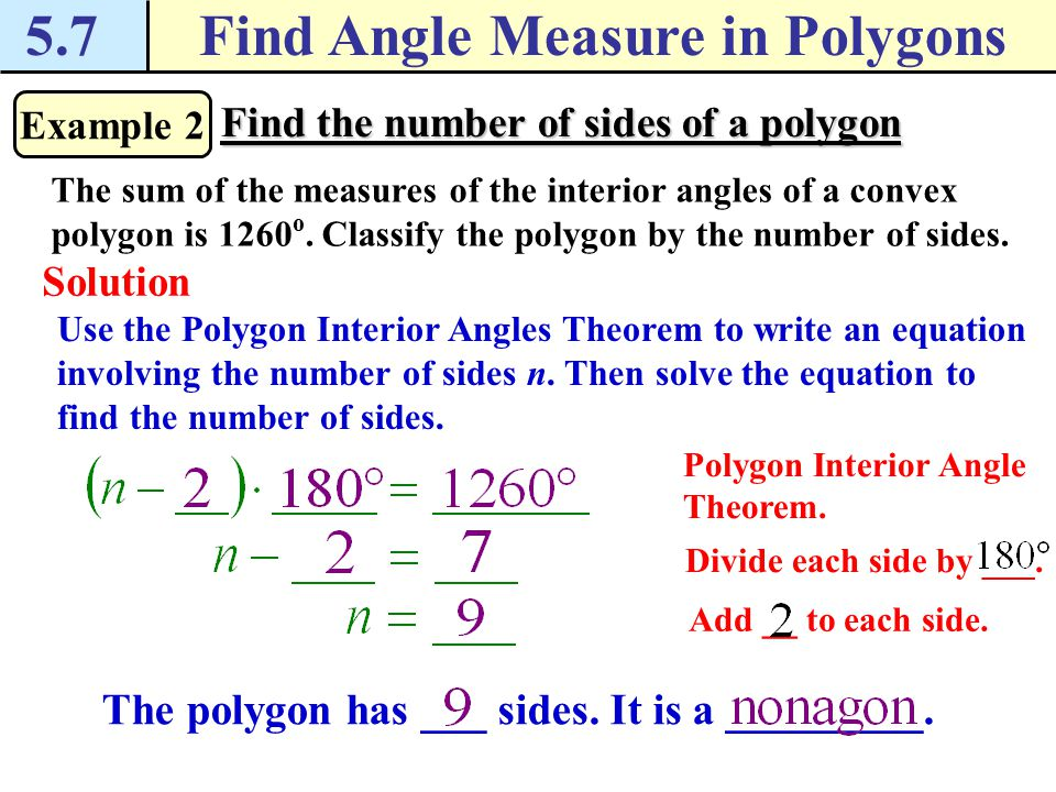 Find Angle Measure In Polygons Ppt Download