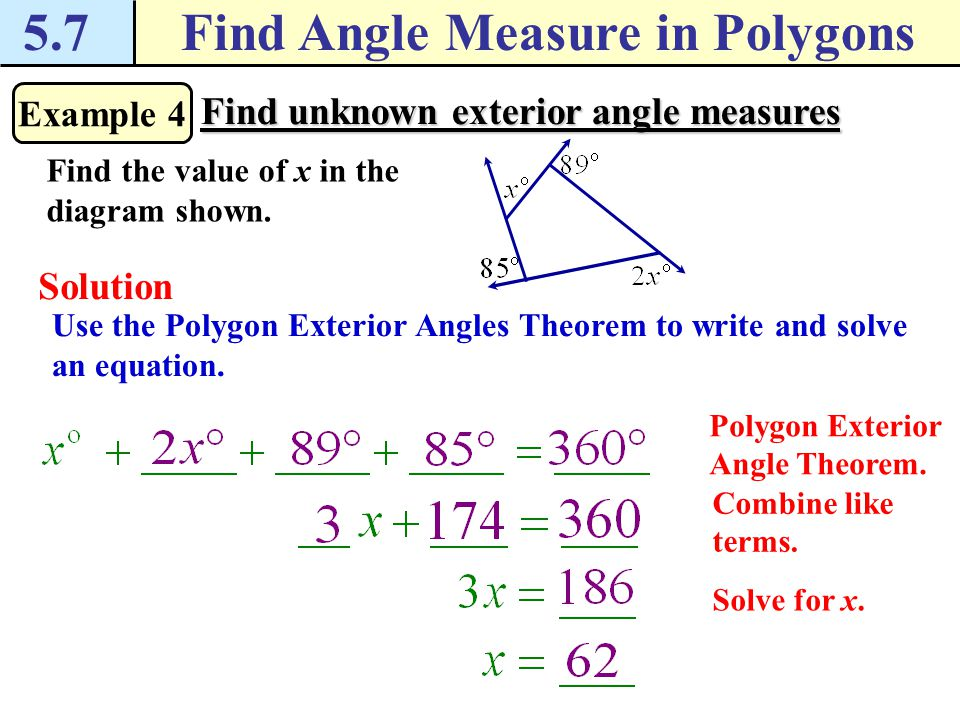 Exterior angle formula for polygons interior angles of a - Exterior angle of a polygon formula ...