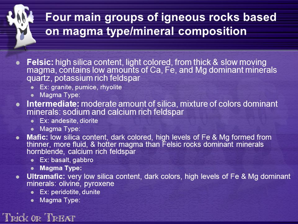 "Basalt Silica Content Of : Igneous rocks ""ignis means fire ppt download"