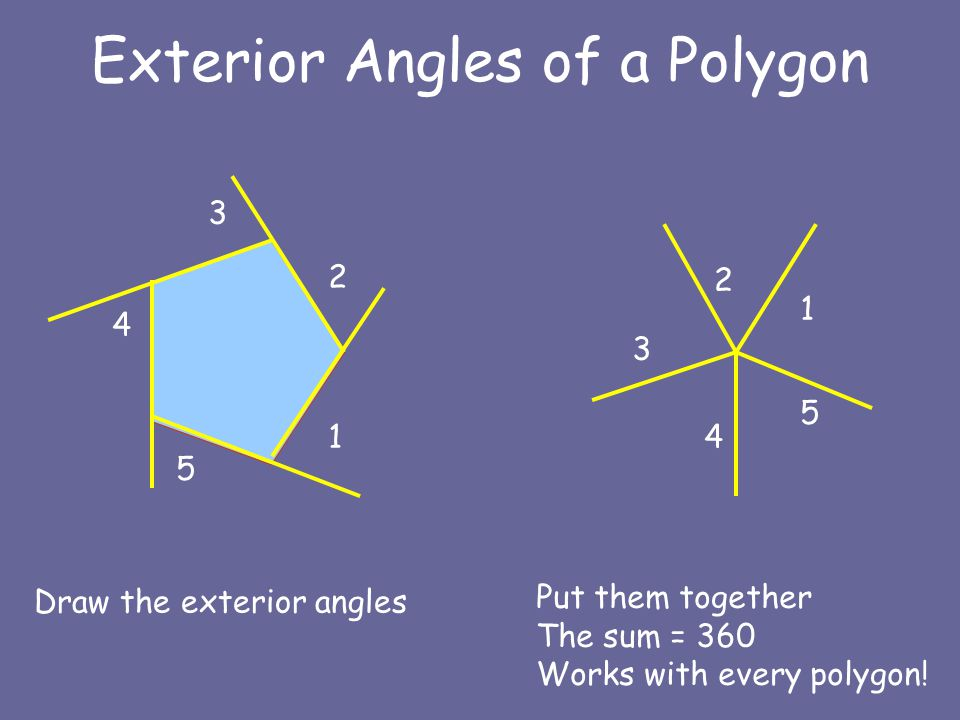 Geometry 3 5 angles of a polygon ppt video online download - Define exterior angle of a polygon ...
