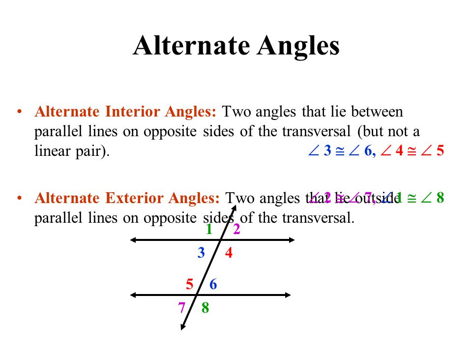 interior angles on the same side of transversal