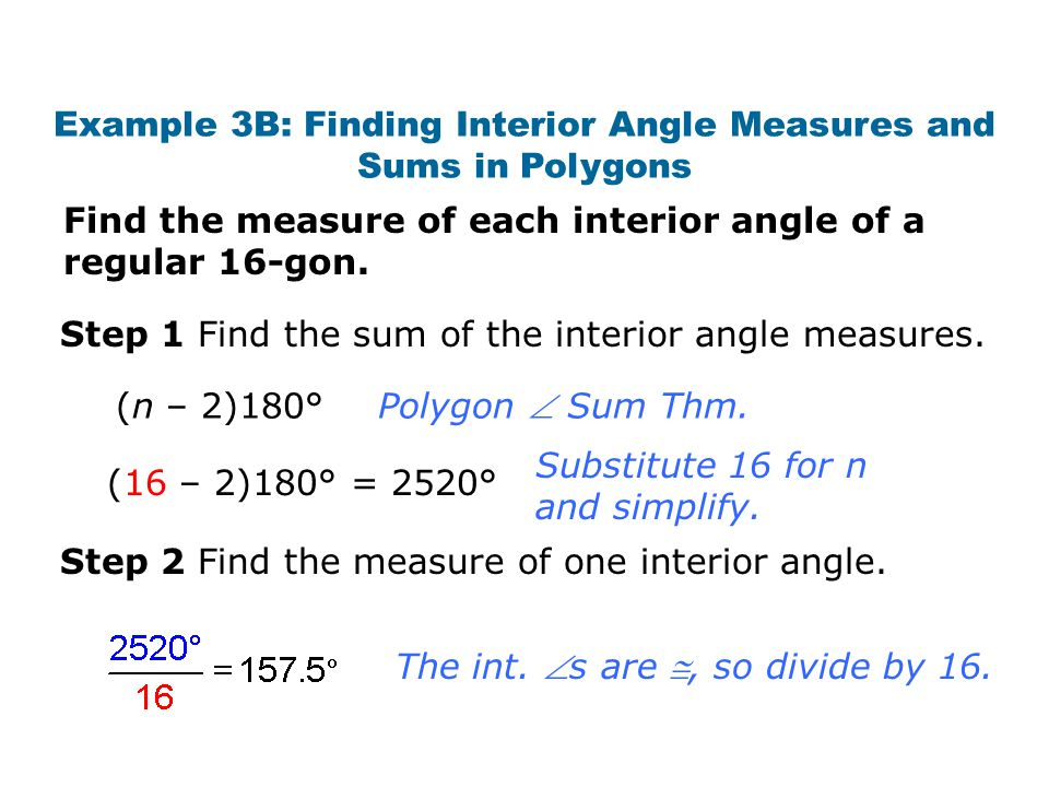 Interior angles of a convex polygon formula