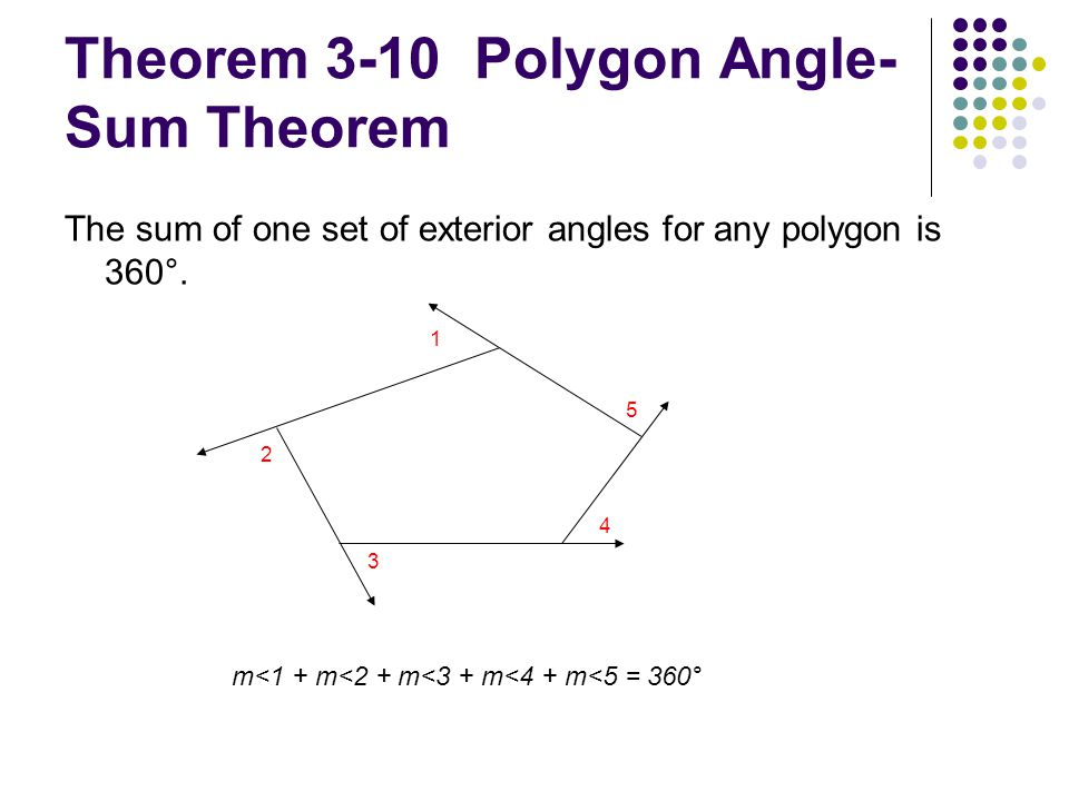 3 4 The Polygon Angle Sum Theorems Ppt Video Online Download