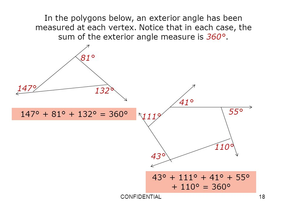 Properties and attributes of polygons ppt video online - Sum of exterior angles of polygon ...