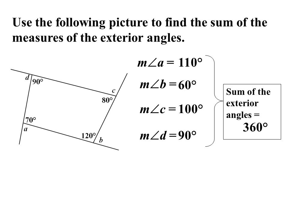 8 1 Find Angle Measures In Polygons Ppt Video Online Download