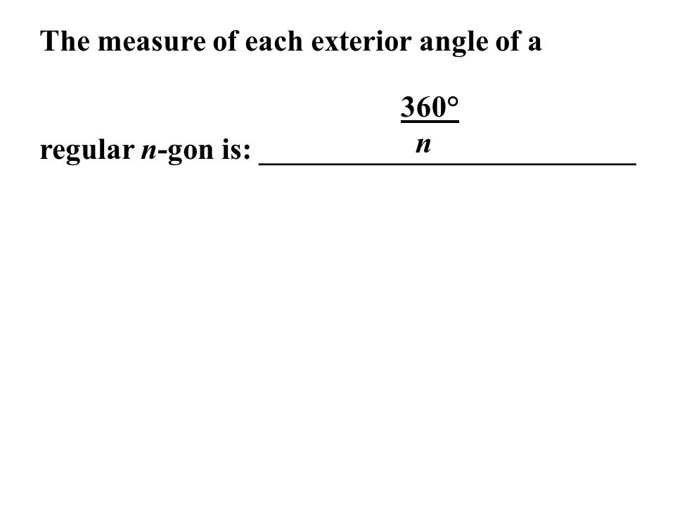 how to find the size of an exterior angle