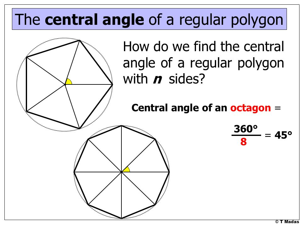 T madas ppt video online download Exterior angle measure of a decagon