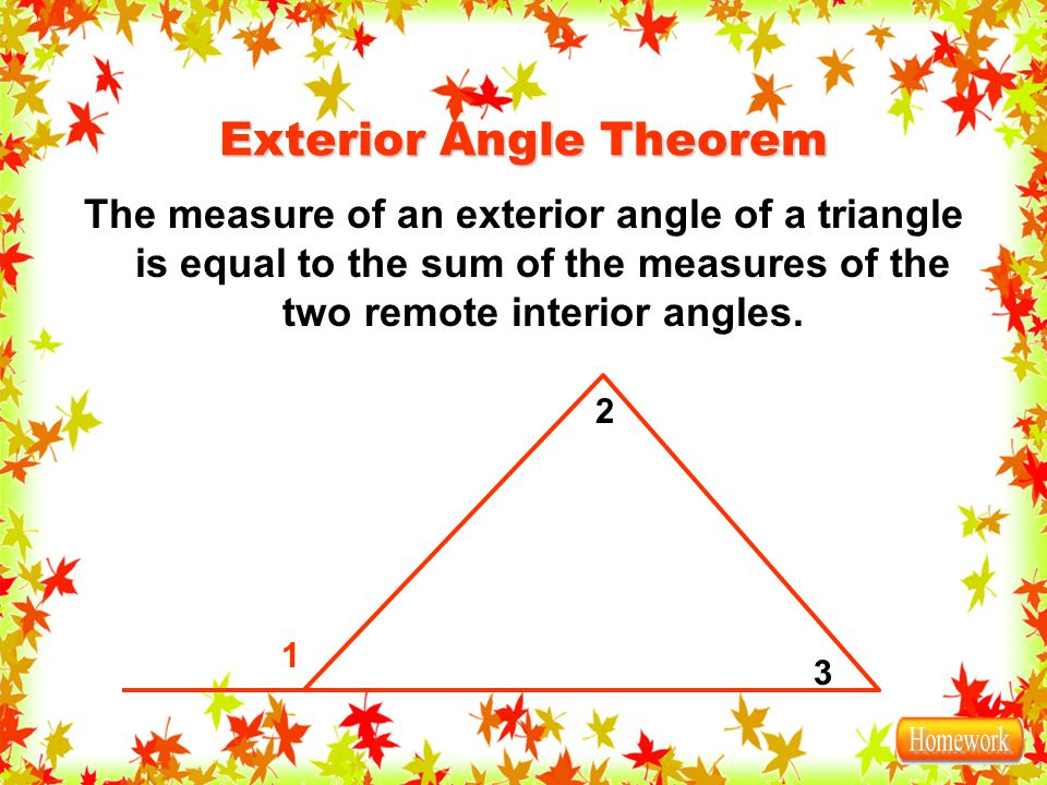 3 5 the triangle sum theorem ppt download for Exterior angle theorem