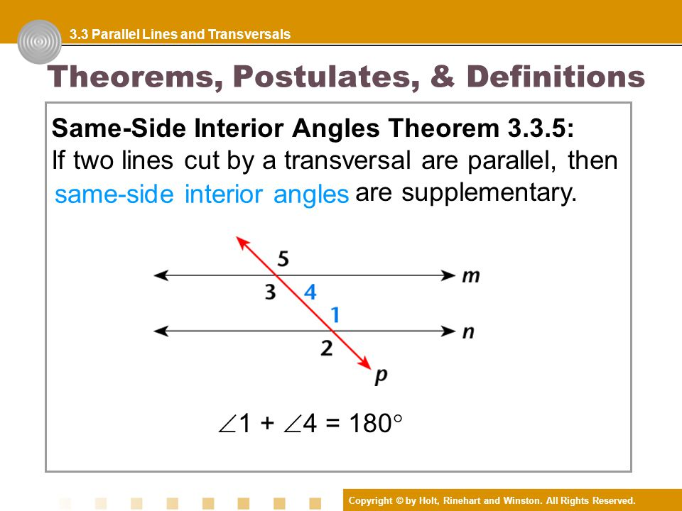 Definitions Parallel Lines Two Lines Are Parallel Lines If They Lie In The Same Plane And Do Not