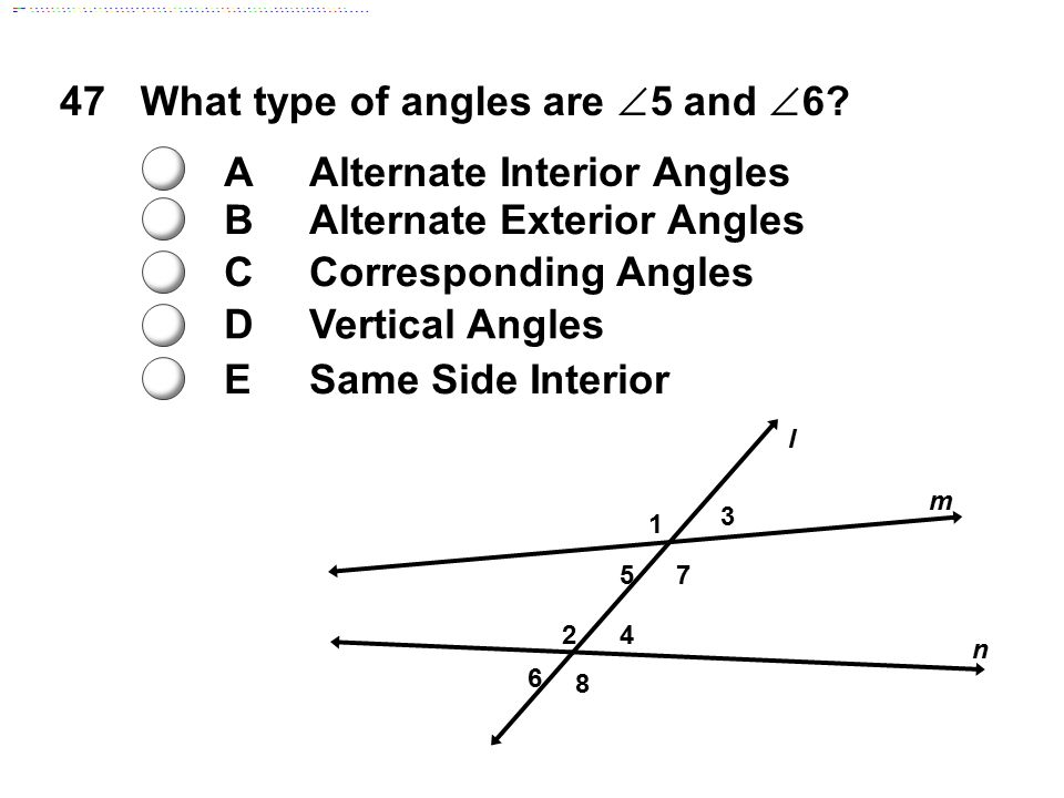 In This Example The Vertical Angles Are Ppt Video Online Download