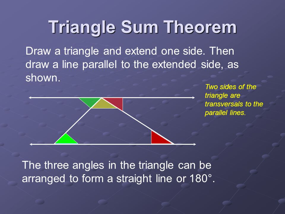 Drawing Lines With Triangle Combination : Angles of triangles section ppt video online download