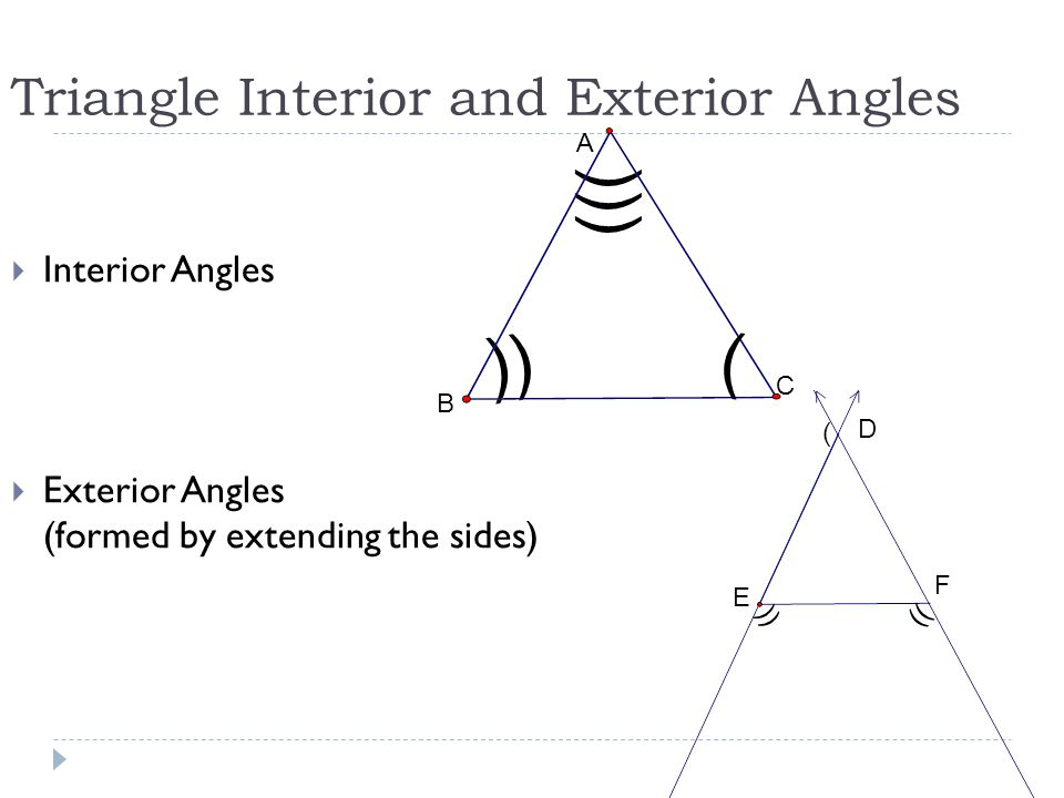Angles Of Triangles Section Ppt Video Online Download