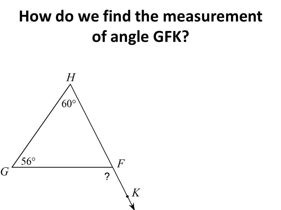 Good Exterior Angle Theorem. 2 How ...