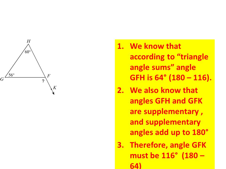 Exterior angle theorem ppt download What do exterior angles of a triangle add up to