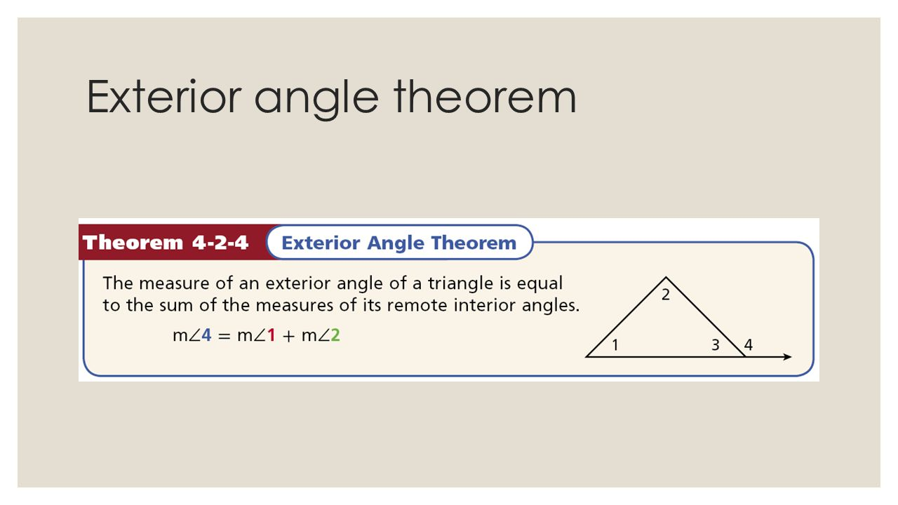 43 Angle Relationship in triangles ppt video online download – Exterior Angle Theorem Worksheet