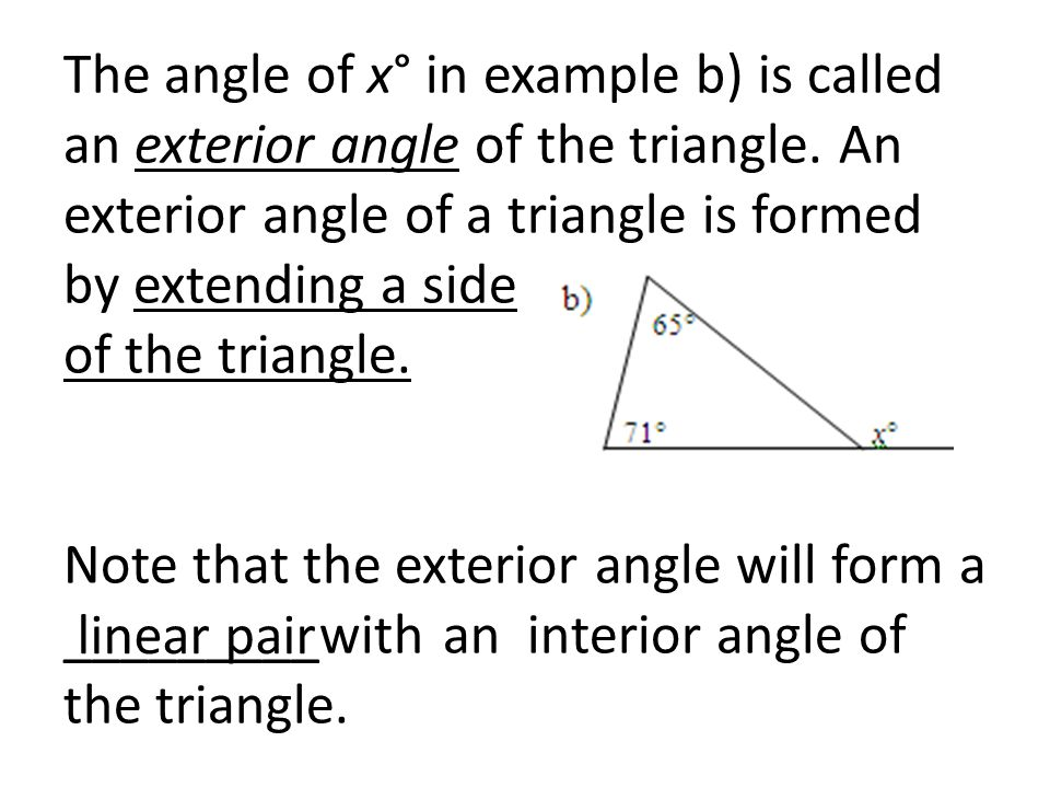 Honors Geometry Section 3 5 Triangle Sum Theorem Ppt Video Online Download