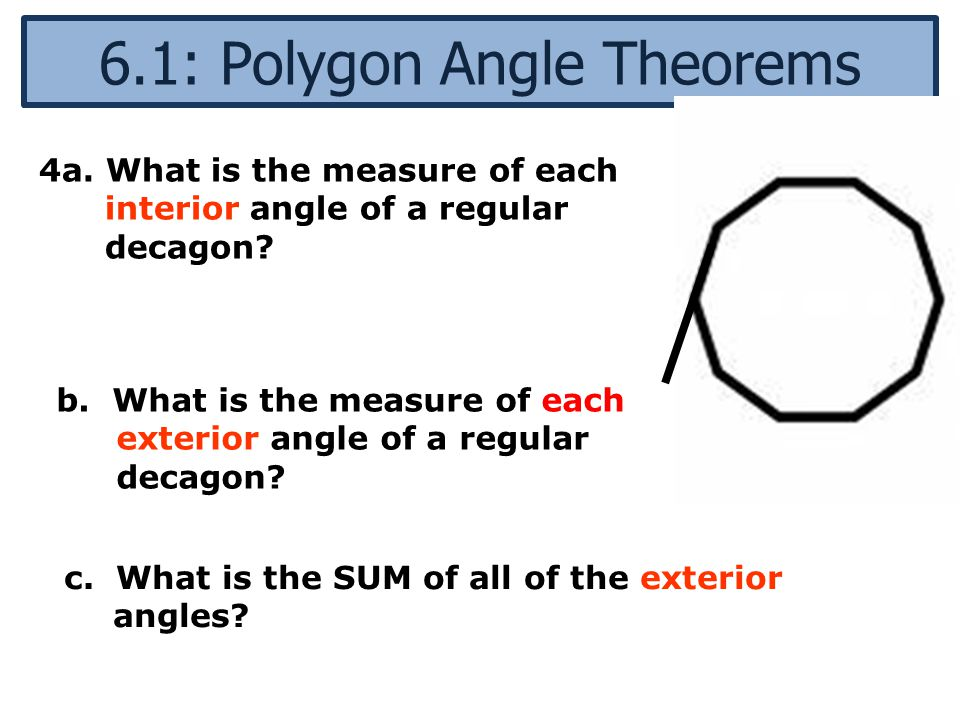6 1 Polygon Angle Theorems Ppt Video Online Download