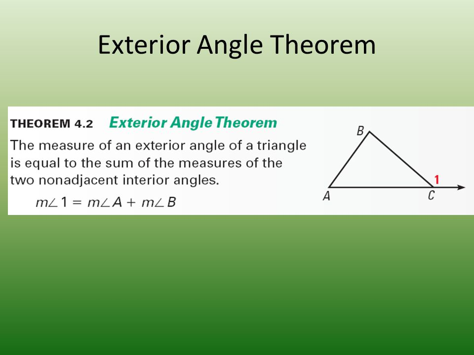 Properties and theorems ppt video online download for Exterior angle theorem