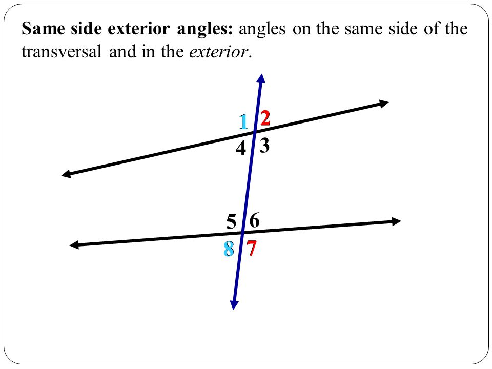 4 5 Introduction To Parallel Lines Ppt Video Online Download