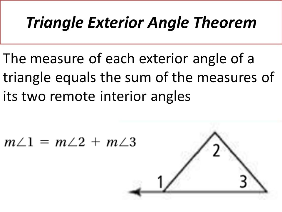 3 5 parallel lines and triangles ppt video online download for Exterior angle theorem