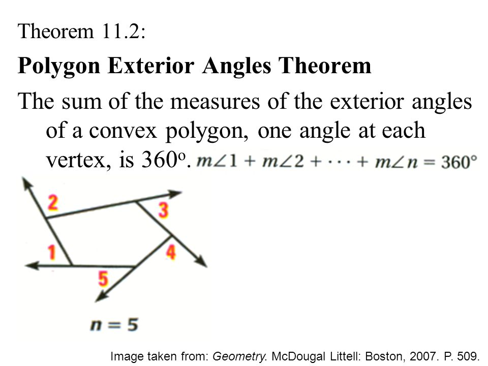 11 1 angle measures in polygons ppt download for Exterior angle theorem