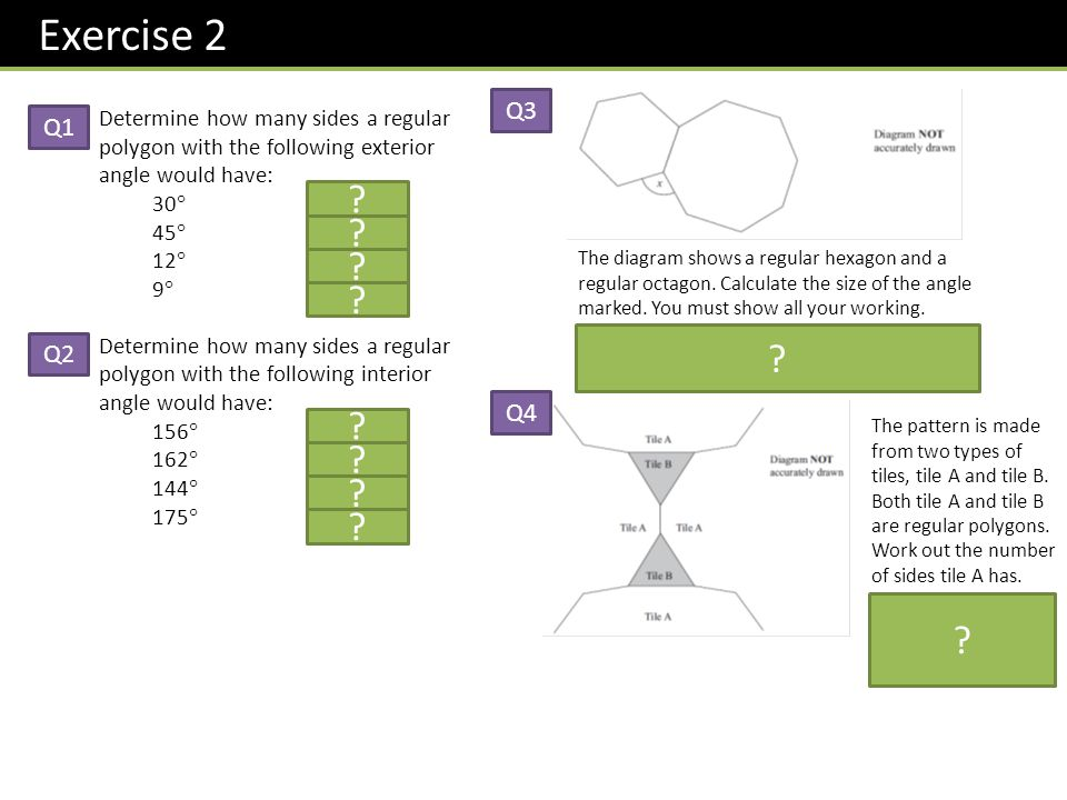 Find The Size Of Each Exterior Angle Of A Regular Hexagon Page